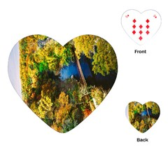 Bridge River Forest Trees Autumn Playing Cards (Heart)