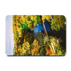 Bridge River Forest Trees Autumn Small Doormat
