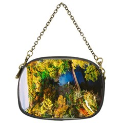 Bridge River Forest Trees Autumn Chain Purses (One Side)