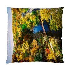 Bridge River Forest Trees Autumn Standard Cushion Case (One Side)