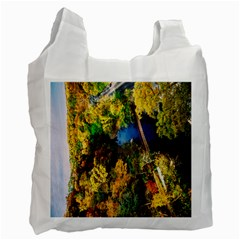 Bridge River Forest Trees Autumn Recycle Bag (Two Side)