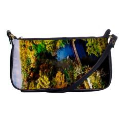Bridge River Forest Trees Autumn Shoulder Clutch Bags