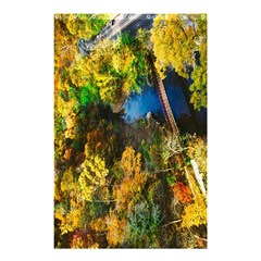 Bridge River Forest Trees Autumn Shower Curtain 48  x 72  (Small)
