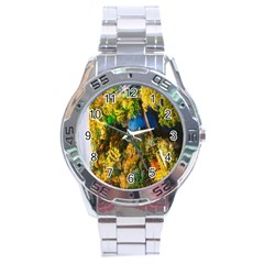 Bridge River Forest Trees Autumn Stainless Steel Analogue Watch