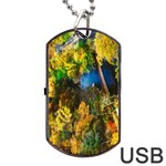 Bridge River Forest Trees Autumn Dog Tag USB Flash (Two Sides) Front