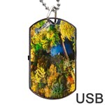 Bridge River Forest Trees Autumn Dog Tag USB Flash (Two Sides) Back