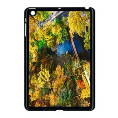 Bridge River Forest Trees Autumn Apple Ipad Mini Case (black)
