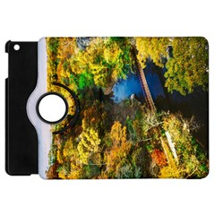 Bridge River Forest Trees Autumn Apple iPad Mini Flip 360 Case