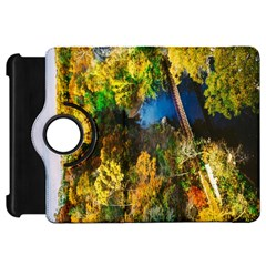 Bridge River Forest Trees Autumn Kindle Fire HD 7