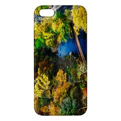 Bridge River Forest Trees Autumn Apple Iphone 5 Premium Hardshell Case
