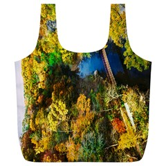 Bridge River Forest Trees Autumn Full Print Recycle Bags (l)