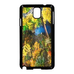 Bridge River Forest Trees Autumn Samsung Galaxy Note 3 Neo Hardshell Case (Black)