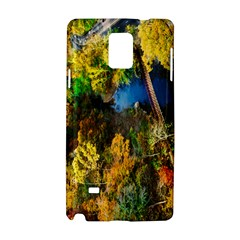 Bridge River Forest Trees Autumn Samsung Galaxy Note 4 Hardshell Case