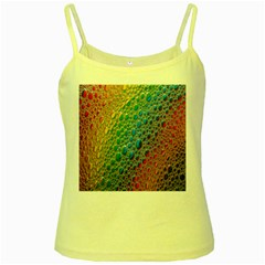 Bubbles Rainbow Colourful Colors Yellow Spaghetti Tank