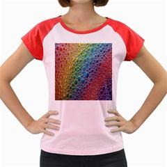 Bubbles Rainbow Colourful Colors Women s Cap Sleeve T-Shirt