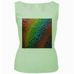 Bubbles Rainbow Colourful Colors Women s Green Tank Top