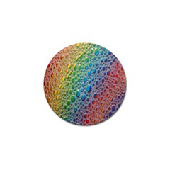 Bubbles Rainbow Colourful Colors Golf Ball Marker