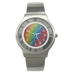 Bubbles Rainbow Colourful Colors Stainless Steel Watch