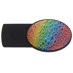 Bubbles Rainbow Colourful Colors USB Flash Drive Oval (4 GB)