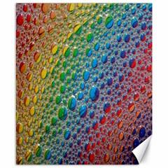 Bubbles Rainbow Colourful Colors Canvas 8  x 10