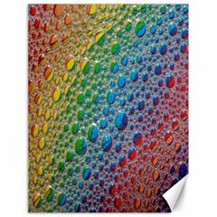 Bubbles Rainbow Colourful Colors Canvas 18  x 24