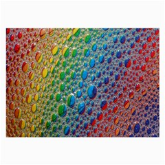 Bubbles Rainbow Colourful Colors Large Glasses Cloth (2-Side)