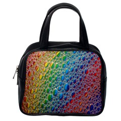 Bubbles Rainbow Colourful Colors Classic Handbags (One Side)