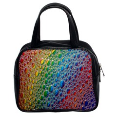 Bubbles Rainbow Colourful Colors Classic Handbags (2 Sides)