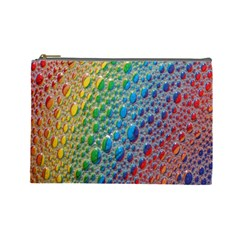 Bubbles Rainbow Colourful Colors Cosmetic Bag (Large)