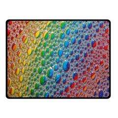 Bubbles Rainbow Colourful Colors Fleece Blanket (Small)