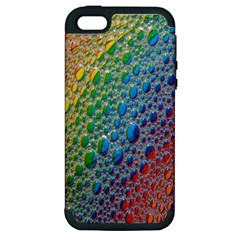 Bubbles Rainbow Colourful Colors Apple iPhone 5 Hardshell Case (PC+Silicone)