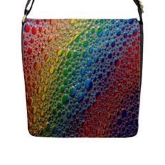 Bubbles Rainbow Colourful Colors Flap Messenger Bag (l)