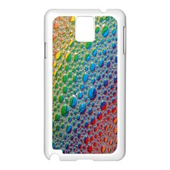 Bubbles Rainbow Colourful Colors Samsung Galaxy Note 3 N9005 Case (White)