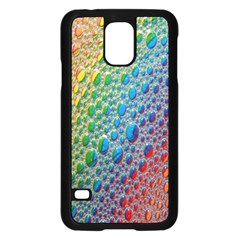 Bubbles Rainbow Colourful Colors Samsung Galaxy S5 Case (black)