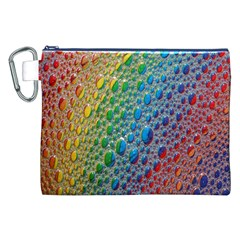 Bubbles Rainbow Colourful Colors Canvas Cosmetic Bag (XXL)