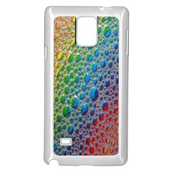 Bubbles Rainbow Colourful Colors Samsung Galaxy Note 4 Case (white)
