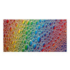 Bubbles Rainbow Colourful Colors Satin Shawl