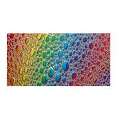 Bubbles Rainbow Colourful Colors Satin Wrap