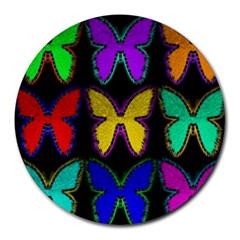 Butterflies Pattern Round Mousepads