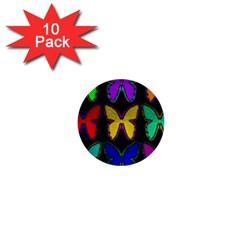 Butterflies Pattern 1  Mini Buttons (10 Pack)