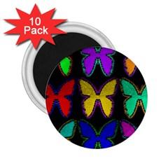 Butterflies Pattern 2.25  Magnets (10 pack)