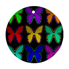 Butterflies Pattern Round Ornament (Two Sides)