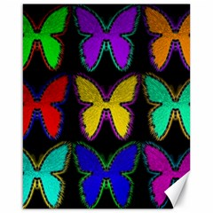 Butterflies Pattern Canvas 16  x 20