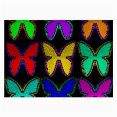 Butterflies Pattern Large Glasses Cloth (2-Side)