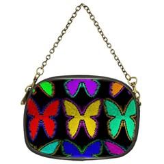 Butterflies Pattern Chain Purses (One Side)