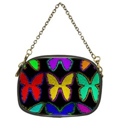 Butterflies Pattern Chain Purses (two Sides)