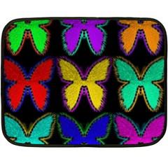Butterflies Pattern Fleece Blanket (Mini)