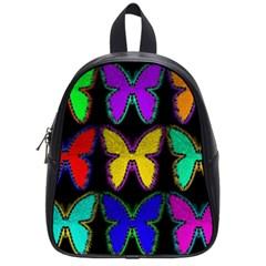 Butterflies Pattern School Bags (Small)