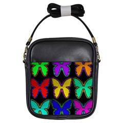 Butterflies Pattern Girls Sling Bags