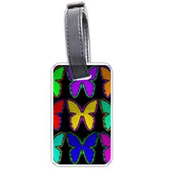 Butterflies Pattern Luggage Tags (One Side)